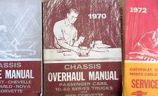 1970 CHEVROLET OVERHAUL MANUAL PASSENGERS CARS + 10-60 TRUCKS CORVETTE 69