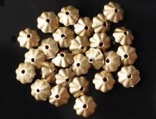 100 pcs perles fleur acrylique chambre d' inhalation, flach, gold, 6 mm