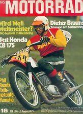 Motorrad 16 71 Honda CB 175 Fath Yamaha Phil Read Egli Moto Cross Bielstein 1971