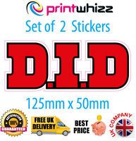 2 x DID Chain Motorcycle Stickers Decals Quality Printed Vinyl Label