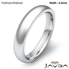 Wedding Band Platinum Mens Dome Comfort Fit Plain Ring 5.5mm 11.1g Size 12-12.75