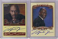2) 2011 2012 Upper Deck Goodwin Michael Jordan Auto Autograph Lot SP A-MJ
