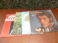 Lot de 4 anciens vinyles de Johnny Hallyday, 33 tours