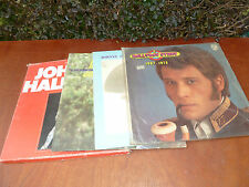 Lot de 4 old records of Johnny Hallyday, 33 tours