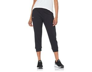 Under Armour Womens Rival Fleece Crop Capri Sweat Pant In Black Size M