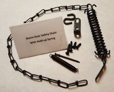 (34) Quantity of Storm Wind Door Chains and Springs, Chain and Spring