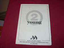 """2 Young:  Deep Inside   7"""" in A4 Press Pack with photo/Insert"""