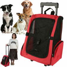 4 Wheels Pet Travel Carrier Backpack Bag Dog Puppy Cat Trolley Stroller