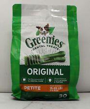 Greenies Dental Treats Original Petite For Dogs 30 Count (15-25 lbs)