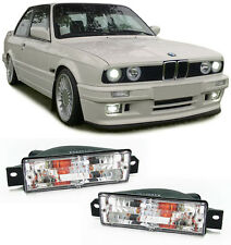 PAIR OF CLEAR INDICATORS LIGHTS FOR THE BMW E30 3 SERIES MODEL V2