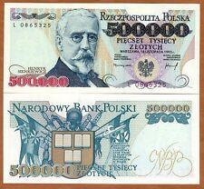 Poland, 500000 (500,000) Zlotych, 1993, P-161, UNC