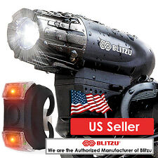 Blitzu Gator 320 Bicycle light Front Back Set USB Rechargeable Free Tail Light