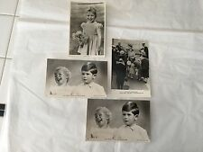 Lot of 4 Tuck's RPPC postcards Prince Charles & Princess Anne as children