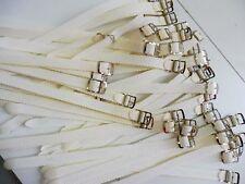 PROMO 20 Bracelet Montre Watch Bands Nylon Tressé Style Nato 8 mm Blanc L 22 cm