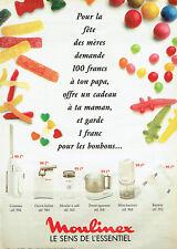 Publicité Advertising 078  1992   Moulinex presse agrumes mini hachoir batteur