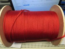 "1/4"" X 100' Sail,Halyard Line,Jibsheets,double braid rope Scarlet Red,USA 2100lb"