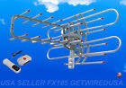 HDTV Out door TV Amplified Antenna 36dB Rotor Remote 360° UHF VHF HD 150 Miles