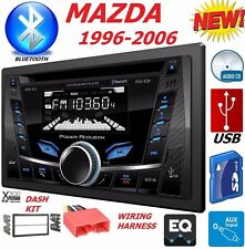96-06 MAZDA DOUBLE DIN AM/FM CD BLUETOOTH USB AUX CAR STEREO RADIO dash kit