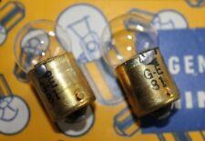 2 NOS USA Made Genuine GE #81 Lamp Hickok Main Line Fuse Pilot Bulb 6 volt 6V