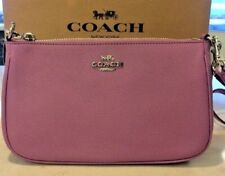 NEW Coach Purse Handbag F25591 Crossgrain Leather Top Handle Crossbody Bag Lilac