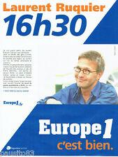 PUBLICITE ADVERTISING 056  2001  Laurent Ruquier  sur Europe1 radio
