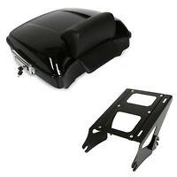 Chopped Tour pack Trunk W/ Pad Two-Up Mounting Rack for Harley Touring 2014-2019