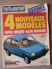 Auto-Journal n°04-77, Alfa Romeo Alfasud Coupé Sprint, Chrysler 2L automatique,