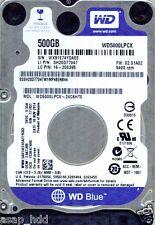 WESTERN DIGITAL SATA 500GB WD5000LPCX-24C6HT0,  EAKTJBB