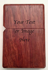 Bubinga Wood Lighter Case Your Text or Graphic includes Oil Lighter