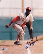"LOU BROCK Autograph - signed 8"" x 10"" photo - Cardinals! HOF! Beckett COA!"
