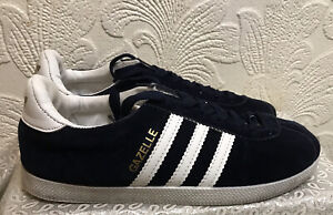 Adidas Gazelle Black Suede Lace Up Trainer Size 6/39 New