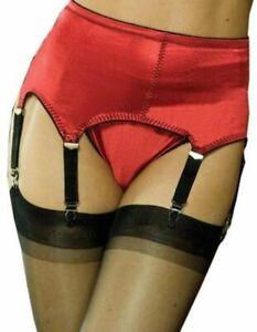 Rago Six Strap Soft Shaping Garter Belt & Stockings Style 3184 S-2X Red