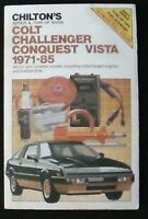 Chilton's Repair & Tune-Up Guide Colt Challenger Conquest Vista 1961-85 VG+