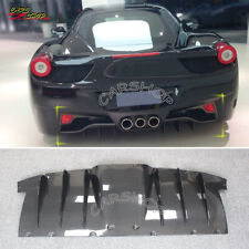 For Ferrari 458 Italia Spider Dry Real Carbon Fiber Rear Bumper Diffuser Lip AP