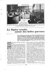 """COURBEVOIE FABRICATION DU """" PAPIER COUCHE """" USINE DE M. FEAU ADP 1906"""