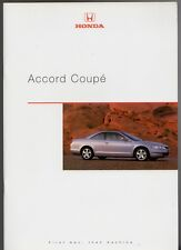 Honda Accord Coupe 1998-2000 UK Market Sales Brochure 2.0 ES 3.0 V6