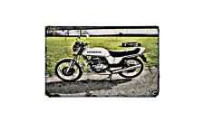 Cb250 Superdream Motorbike Sign Metal Retro Aged Aluminium Bike