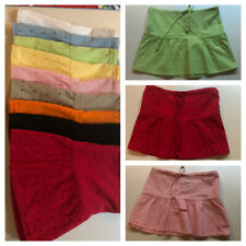 Ladies 100% Cotton Embroidered Mini Skirts (9 Colors)