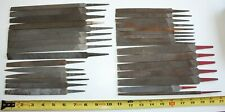 b) Vintage lot of 31 used machinist files NICHOLSON, SIMONDS and other