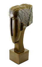 "Abstrakter Bronzekopf - ""Woman's Head"" (1912) - signiert Amedeo Modigliani"