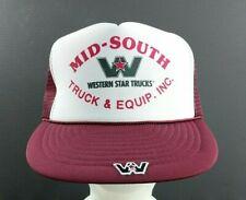 051bdf809a66a Vtg MID-SOUTH Truck   Equipment WESTERN STAR TRUCKS Trucker Hat Cap Snapback