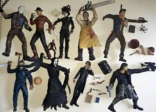 McFarlane Movie Maniacs Lote Jason Freddy ceniza Myers Leatherface Scream 9 figuras