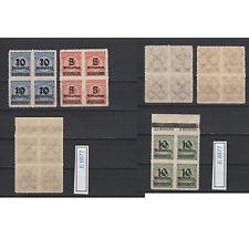 (E6577) DR Nr.334B-336 B** Aufdruckmarken im Viererblock Nr.336 mit Bug (Bilder)