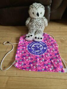 Build a Bear SNOWY OWL (Like Hedwig) SOFT PLUSH TOY Head Rotates