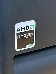 Retro Sleeper AMD RYZEN 5 7 9 R5 R7 R9 Processor Computer Case Badge Sticker CPU