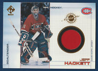 JEFF HACKETT 2000-01 PACIFIC PRIVATE STOCK 2001 NO 56 GAME JERSEY  16693