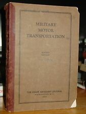 1930 Military Motor Transportation, Army Coast Artillery, Care & Operation, Rare
