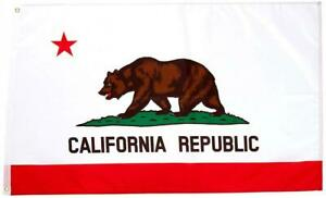 Quality Standard Flags California Polyester Flag, 3 by 5'