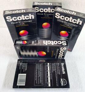 5 Scotch HS T-120 Blank VHS Tape High Standard