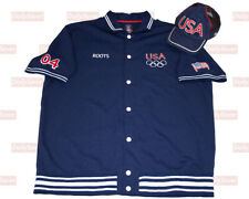 Roots Canada Usa Olympics Basketball Warm Up Shirt and Matching Hat Mens 2Xl